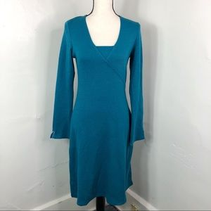 Horny Toad Toad & Co Blue Tomboy Wrap Dress S
